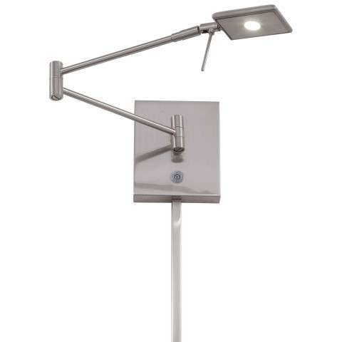 George Kovacs P4328-084 1 Light LED Swing Arm Wall Lamp in Brushed Nickel finish with Steel Shade