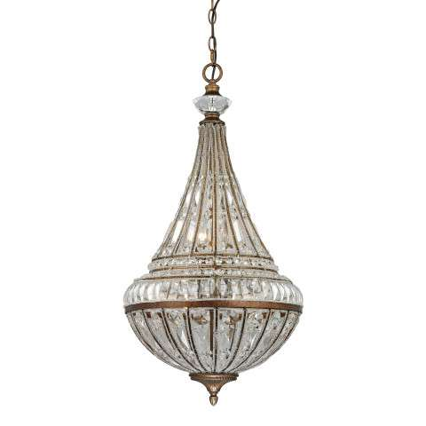 Empire Collection 6 light pendant in Mocha