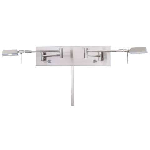 2 Light Led Swing Arm Wall Lamp