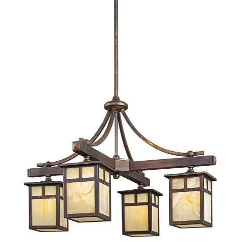 Kichler 49091CV Outdoor Chandelier 4Lt in Canyon View.