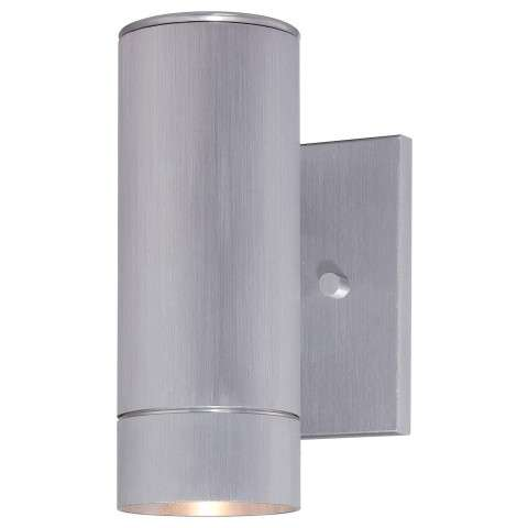 """The Great Outdoors Outdoor Lantern 1-Lite Led Wall Bracket Tested 3"""" In Brushed Aluminum"""