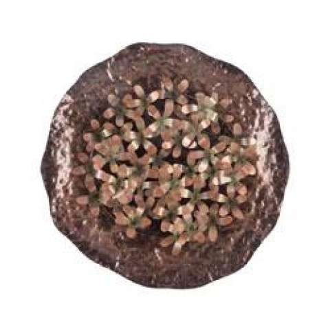 Bronze Poppy Bunch Wall Plate