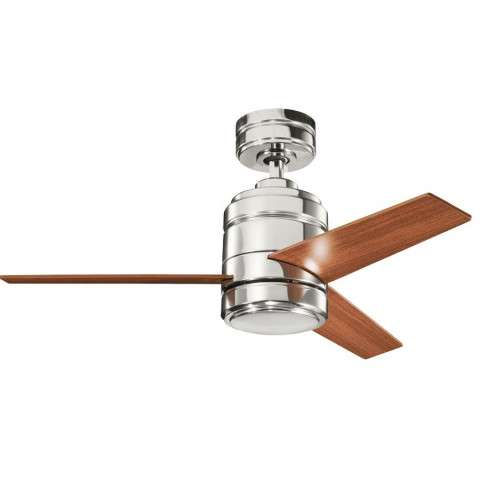 "Kichler 38"" Arkwright w/Plywood Blades in Polished Nickel"