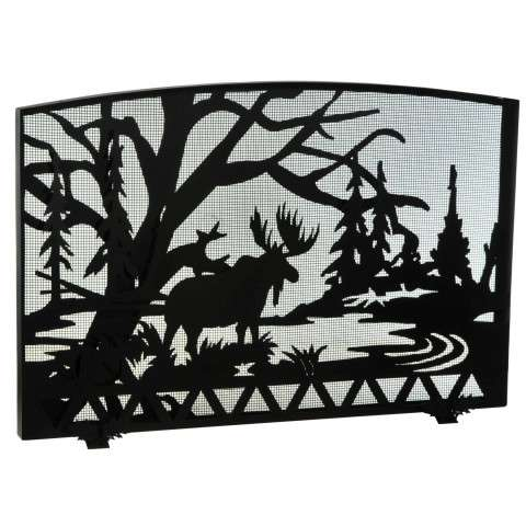 "Moose Creek Fireplace Screen - 48"" Wide x 33"" Tall"