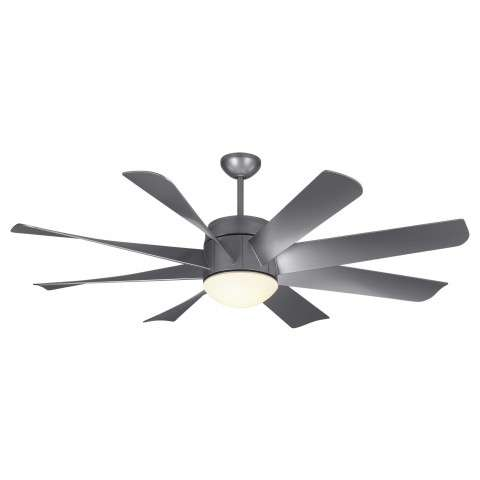 Montecarlo 8TNR56PBSD-V1 - 56 Inch Turbine - Painted Brushed Steel