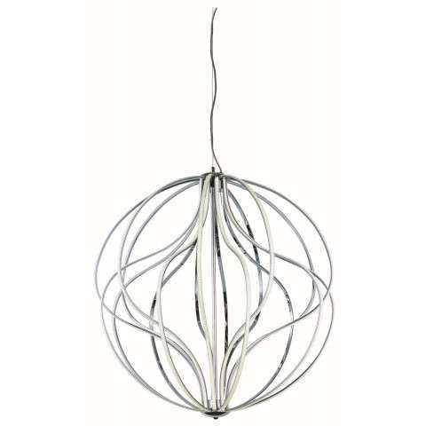 Aura LED 18-Light Pendant in Polished Chrome