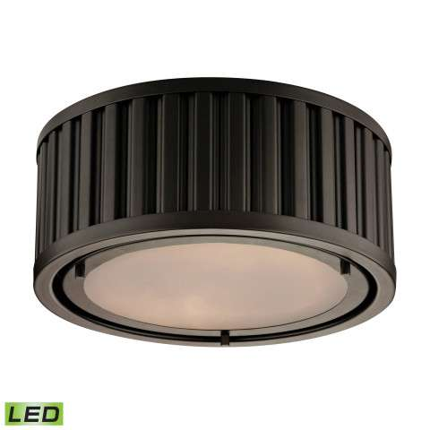 Linden Collection 2 light flush mount in Oil Rubbed Bronze - LED - 800 Lumens (1600 Lumens Total)…