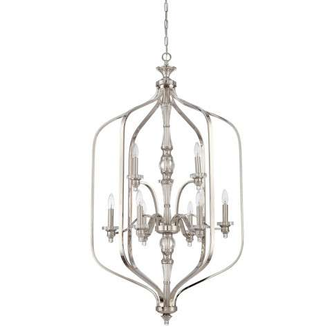 Jeremiah Indoor Lighting 9 Light Entry In Polished Nickel