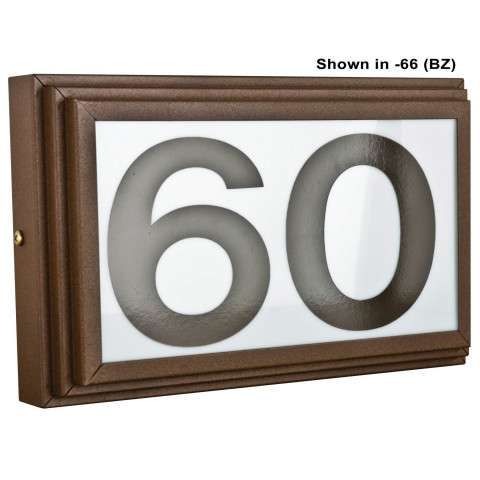 Sunset Lighting F10042-66 Small Address Light Stepped 4 inch Numbers Brown Vinyl with Transformer in Bronze Finish