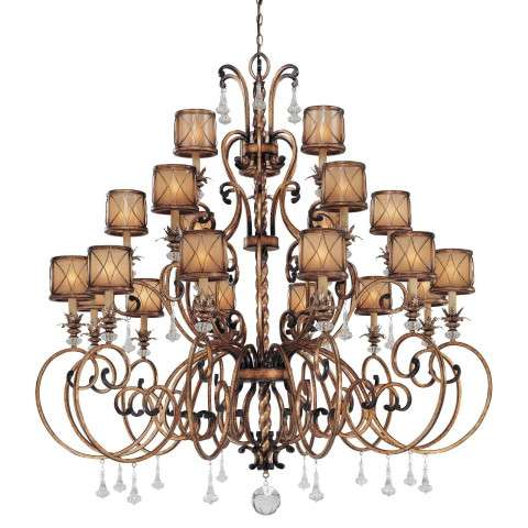 Minka Lavery Lighting 4759-206 21 Light Chandelier in Aston Court Bronze finish