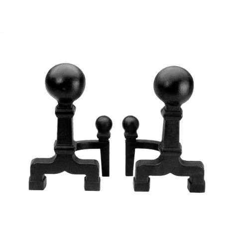 "6""Dia. Ball Andirons - Black"