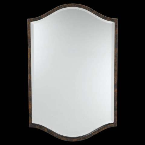 Murray Feiss MR1077WAL Drawing Room Mirror in Walnut finish