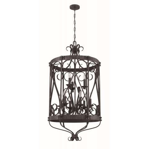 Ellsworth 9 Light Foyer in Charcoal