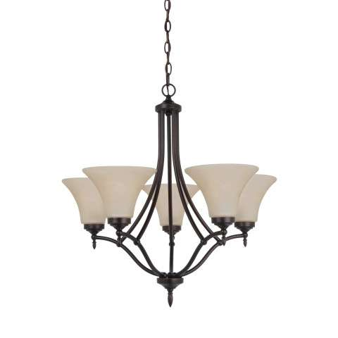 Seagull Lighting 31181-710 Five Light Chandelier in Antique Brushed Nickel Finish