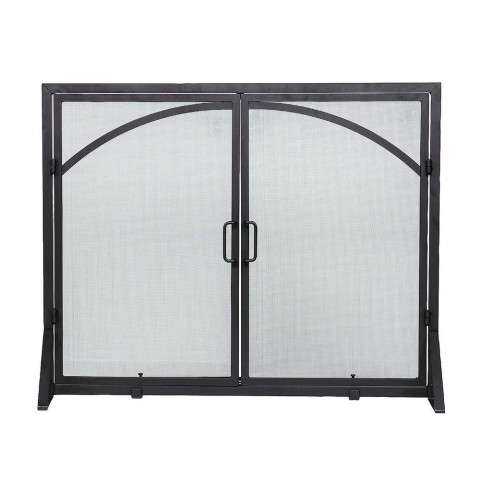 "Flat Screen With Center Doors - Black - Door Screen - 39"" Wide x 31"" Tall"
