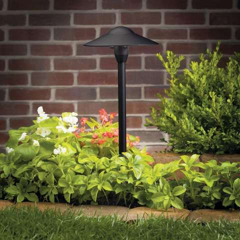 Kichler 15310BKT Path & Spread 1-Lt 12V in Textured Black.