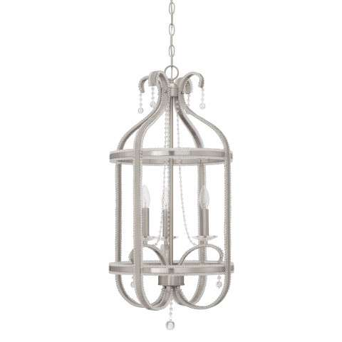 Andrianna 3 Light Foyer in Brushed Polished Nickel