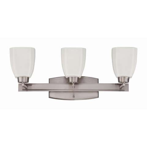Bathroom Fixture - Bridwell 3 Light Vanity Fixture In Brush Nickel