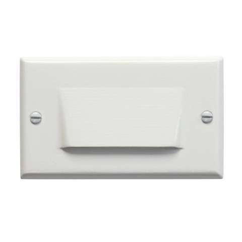 Kichler 12602WH LED Step Light Shielded in White.