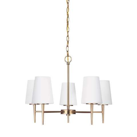 Driscoll - Five Light Chandelier in Satin Bronze