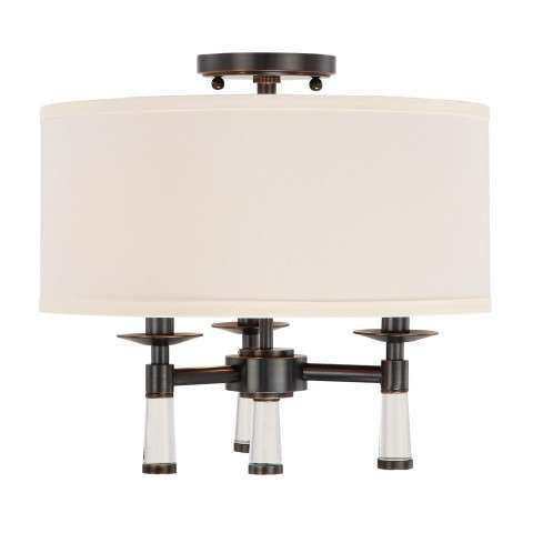 Baxter 3 Light Oil Rubbed Bronze Ceiling Mount