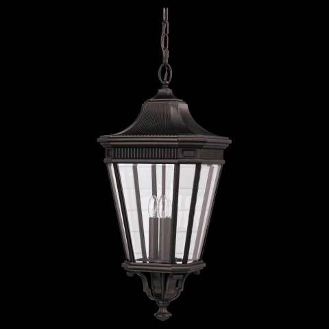 Murray Feiss OL5412GBZ Cotswold Lane Outdoor Lantern in Grecian Bronze finish with Clear beveled glass shade