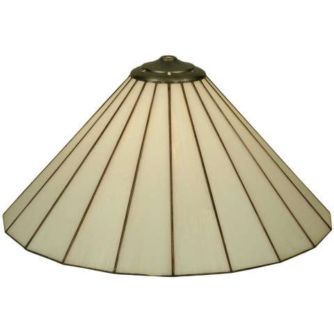 "17.75""W X 8.75""H Duncan White Replacement Shade"