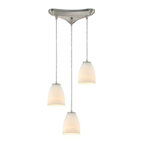 Sandstorm 3 Light Pendant In Satin Nickel