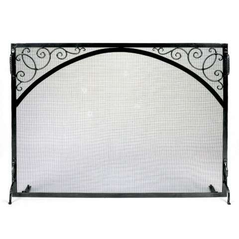 "Sterling Fire Screen Scroll & Arch - 44"" Wide x 33"" Tall"