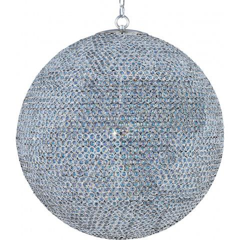 Maxim 39888BCPS Glimmer 18-Light Chandelier in Plated Silver with Beveled Crystal glass.