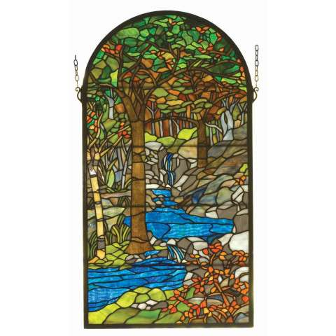 Meyda Tiffany 98255 Tiffany Waterbrooks Stained Glass Window in Copperfoil finish