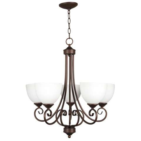 Raleigh - 5 Light Chandelier - Oiled Bronze