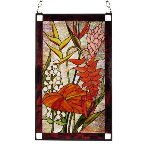 Meyda Tiffany 51539 Tropical Floral Stained Glass Window