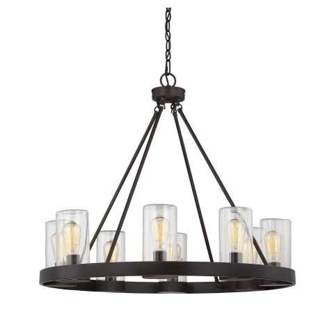 Inman 8 Light Outdoor Chandelier in English Bronze