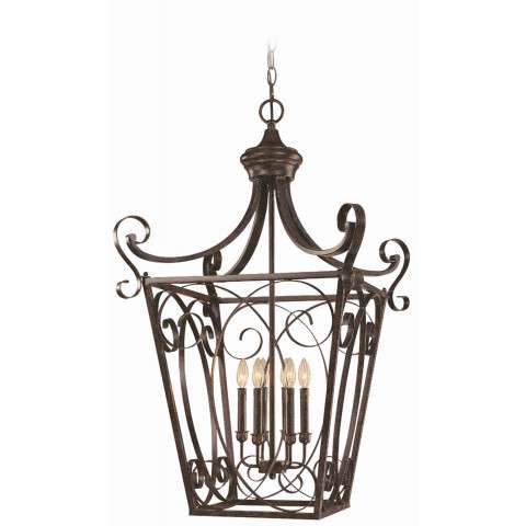 Craftmade Exteriors Stanton - English Toffee 6 Light Foyer in English Toffee