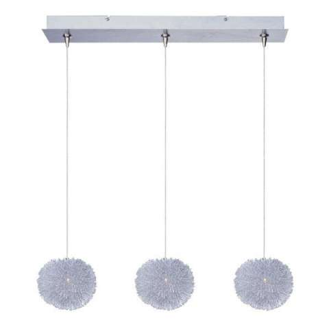 ET2 Contemporary Lighting E94820-AL Clipp 3-light Linear Pendant in Brushed Aluminum finish