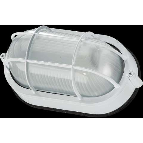 1 Light Oval Bulkhead in White