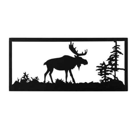 "18"" W Lone Moose Wall Art - Custom Crafted In Yorkville - New York Please Allow 30 Days"