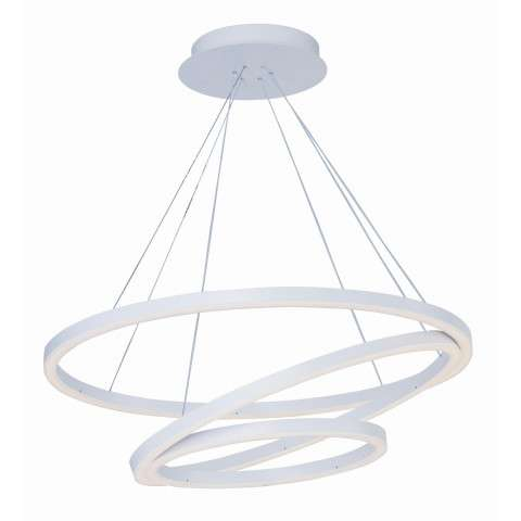 Cirque LED Pendant in Matte White