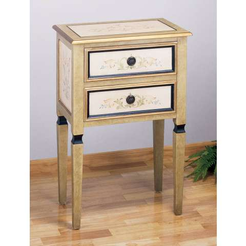 Meyda Tiffany 30206 Scroll 2 Drawer Occas. Table