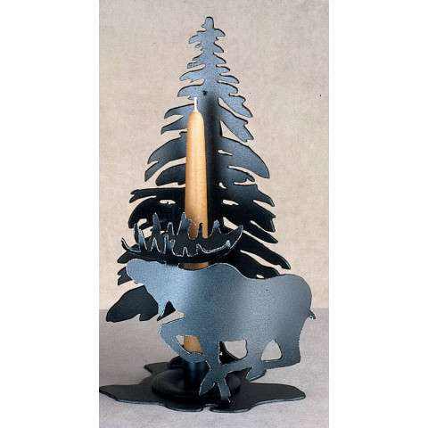 Meyda Tiffany 23090 Moose On The Loose Candle Holder in Black finish