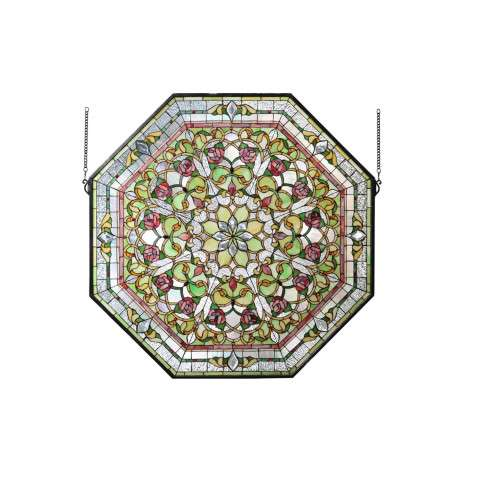 Meyda Tiffany 107225 Front Hall Floral Stained Glass Window