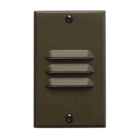 Kichler 12606AZ LED Step Light Vertical Louver in Architectural Bronze.