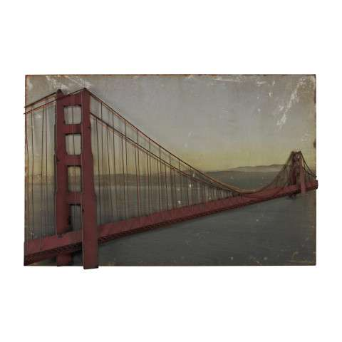 Wall Art - Golden Gate Bridge-Golden Gate Bridge In Set On Print - Canvas and Metal