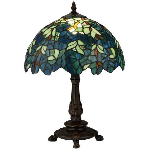 Meyda Tiffany 124813 Nightfall Wisteria Accent Lamp in Copperfoil finish