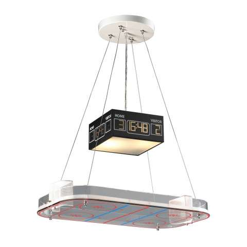 Elk Lighting 5138/2 2 Light Pendant In A Hockey Motif