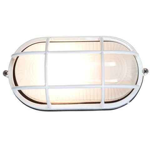 Access Lighting 20292-WH/FST Nauticus Wet Location Bulkhead in White finish with Frosted glass