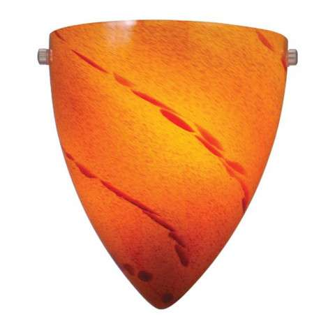 "Milano 9"" Wall Sconce Satin Nickel w/Lava Swirl Glass"