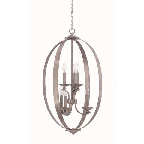Ensley 6 Light Entry in Antique Nickel