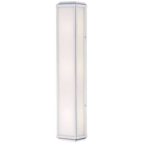 Minka Lavery 3 Light Wall Sconce In Polished Nickel Finish W/ White Glass